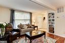 Living Room with Built-Ins! - 6115 GARDENIA CT, ALEXANDRIA