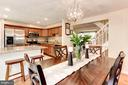 Dining Room & Kitchen - 6115 GARDENIA CT, ALEXANDRIA