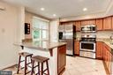 Kitchen - Custom Made Island/Kitchen Bar! - 6115 GARDENIA CT, ALEXANDRIA