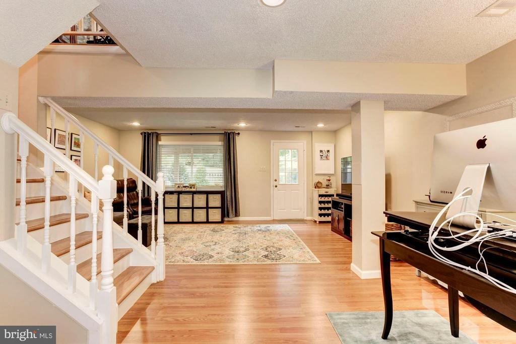 Basement/Family Room - Spacious, Light, & Bright! - 6115 GARDENIA CT, ALEXANDRIA