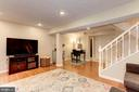 Family Room/Rec Room - Great Space! - 6115 GARDENIA CT, ALEXANDRIA