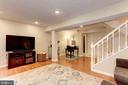 Family Room/Rec Room - Great Space! - 6115 GARDENIA CT, ALEXANDRIA