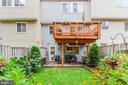 Back Yard - Enjoy TWO Levels of Outdoor Living! - 6115 GARDENIA CT, ALEXANDRIA