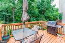 Freshly Stained Deck Located Off Kitchen/Dining Rm - 6115 GARDENIA CT, ALEXANDRIA