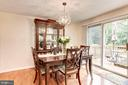 Dining Room - Upgraded Chandelier on Dimmer Switch - 6115 GARDENIA CT, ALEXANDRIA