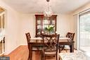 Dining Room - Seats 8-10+ Guests Comfortably! - 6115 GARDENIA CT, ALEXANDRIA