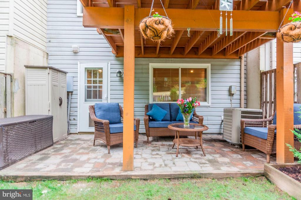 Back Yard - Patio - Perfect for Relaxing! - 6115 GARDENIA CT, ALEXANDRIA