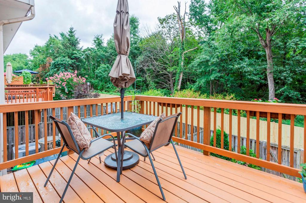 Deck - Fresh Stained - 6115 GARDENIA CT, ALEXANDRIA