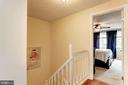 Landing on Upper Level of Home as You Enter Master - 6115 GARDENIA CT, ALEXANDRIA