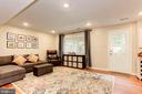 Family Room/Rec Room - Wall of Windows + Door! - 6115 GARDENIA CT, ALEXANDRIA