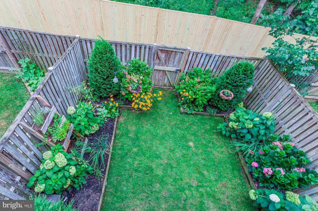 View of Perfectly Manicured Back Yard from Deck! - 6115 GARDENIA CT, ALEXANDRIA