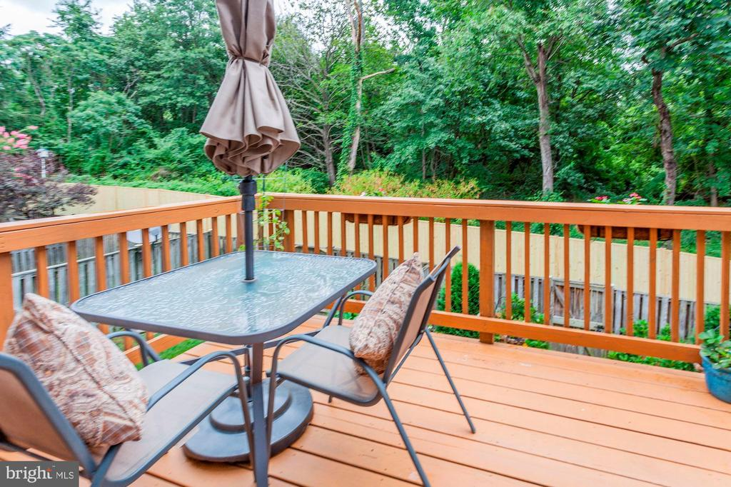 Deck Overlooks Breathtaking Wooded Views - 6115 GARDENIA CT, ALEXANDRIA