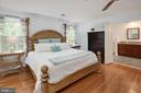 Master suite with hardwoods and sitting room. - 11005 BIRDFOOT CT, RESTON