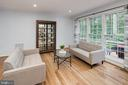 Living room with a beautiful view! - 11005 BIRDFOOT CT, RESTON