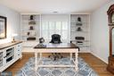 Home office with hardwoods & built-ins. - 11005 BIRDFOOT CT, RESTON