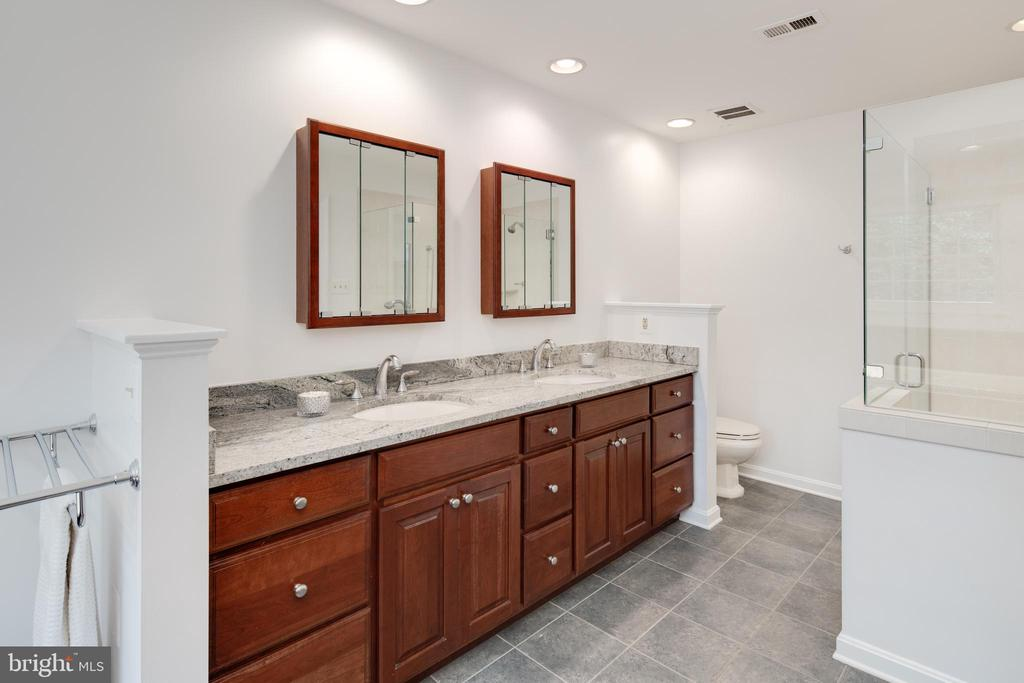 High end renovated bath with walk-in shower. - 11005 BIRDFOOT CT, RESTON
