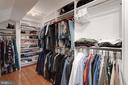 INCREDIBLE walk-in dream closet! - 11005 BIRDFOOT CT, RESTON