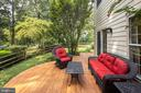 Enjoy entertaining or relaxing on the deck. - 11005 BIRDFOOT CT, RESTON