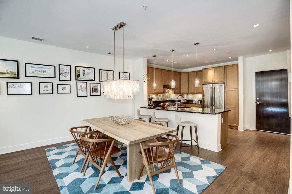 Entertain in this open-concept kitchen/dining room - 1418 N RHODES ST #B102, ARLINGTON