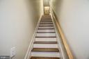 View of owner's stairs leading up from garage - 1418 N RHODES ST #B102, ARLINGTON