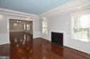 Family Room with gas fireplace - 1706 N RANDOLPH ST, ARLINGTON