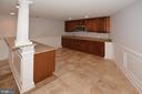 Lower Level has Large Kitchen / Wet Bar - 1706 N RANDOLPH ST, ARLINGTON