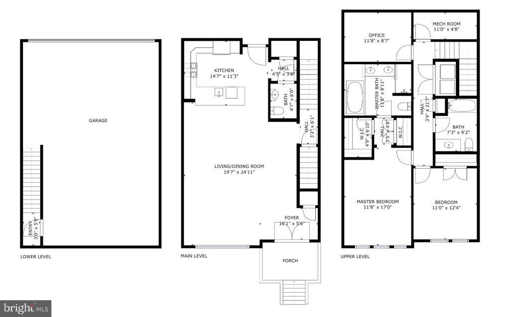 Floor Plan - 1418 N RHODES ST #B102, ARLINGTON