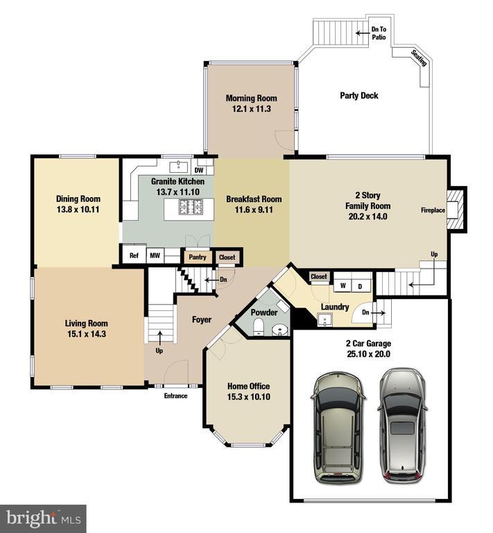 Main Level Floorplan - 20386 CLIFTONS POINT ST, POTOMAC FALLS
