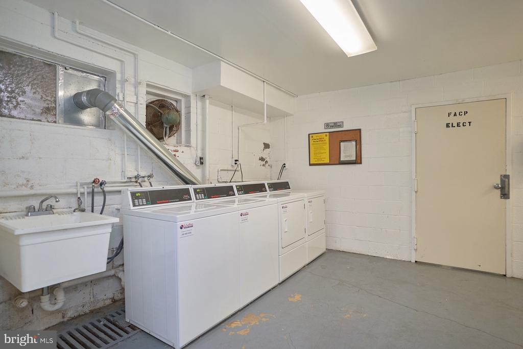 Common Area Laundry (one floor down) - 10607 KENILWORTH AVE #K-104, BETHESDA