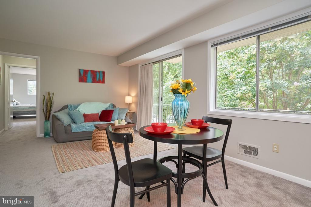 Dining Area /view of Living Area - 10607 KENILWORTH AVE #K-104, BETHESDA