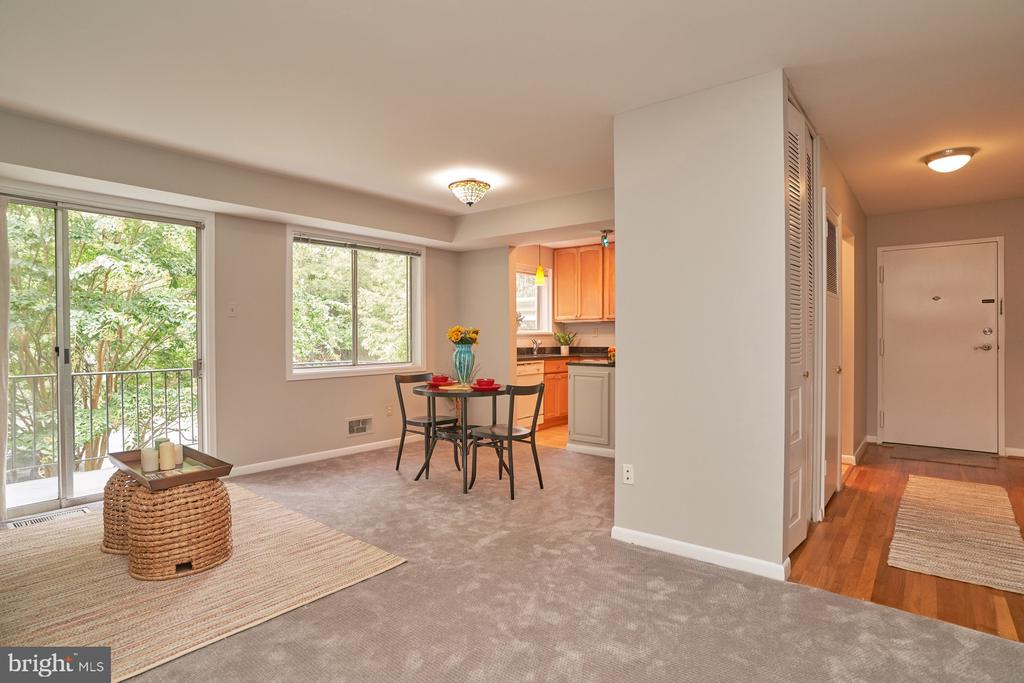 View of Living/Dining Areas - 10607 KENILWORTH AVE #K-104, BETHESDA