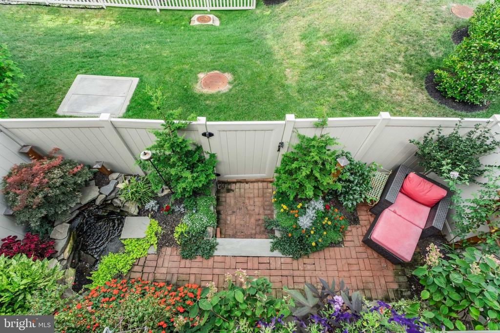 View of Lush Patio with Pond - 2363 CHADLINGTON RD, FALLS CHURCH