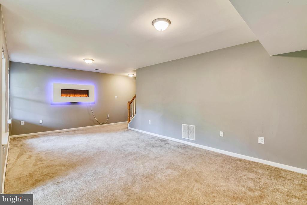 Huge lower level recreation room, elect fireplace! - 44127 ALLDERWOOD TER, ASHBURN