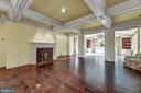 Family room with fireplace - 13224 LONGNECKER RD, GLYNDON