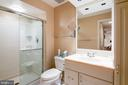 Lower level full bath - 6093 ARRINGTON DR, FAIRFAX STATION
