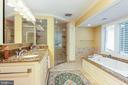 Master bath expanded and remodeled - 6093 ARRINGTON DR, FAIRFAX STATION