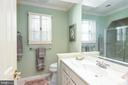Upper hall bath - 6093 ARRINGTON DR, FAIRFAX STATION
