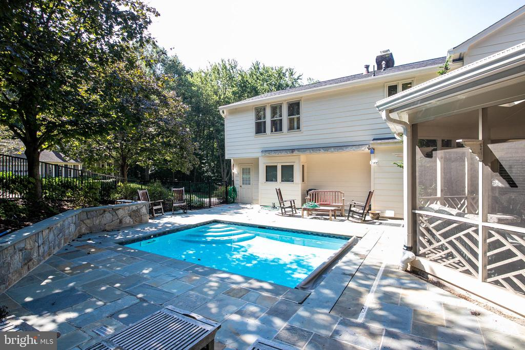 Pool slate decking - 6093 ARRINGTON DR, FAIRFAX STATION