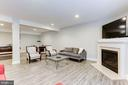 LL Family Room w/ Gas Fireplace - 18837 ACCOKEEK TER, LEESBURG