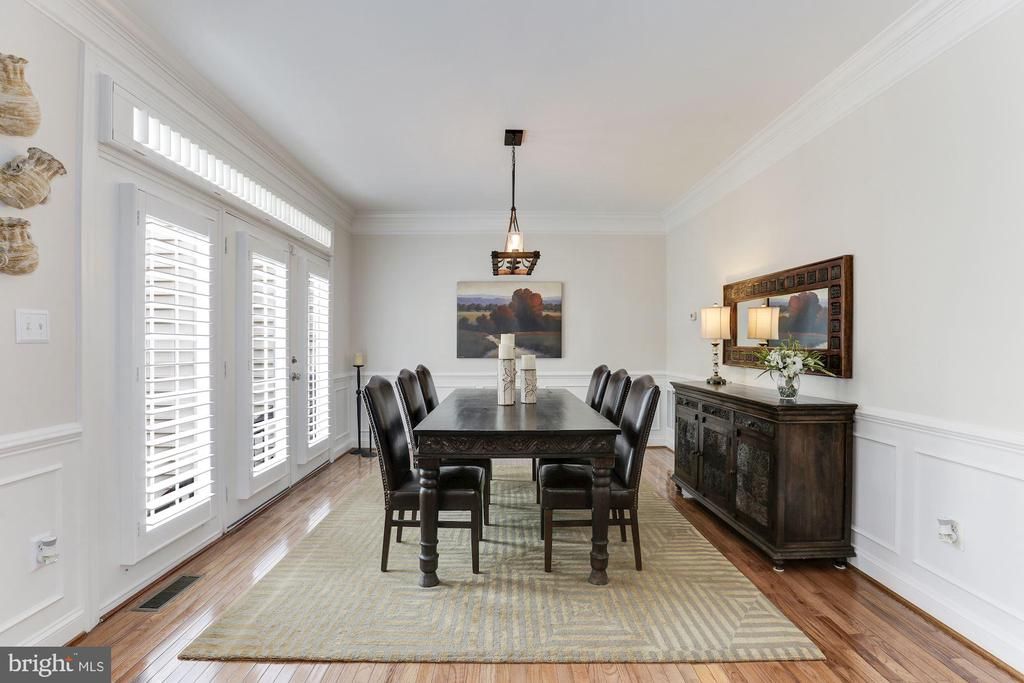 Formal Dining Room w/ Custom Moldings - 18837 ACCOKEEK TER, LEESBURG