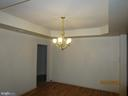 Tray ceiling in the spacious dining room. - 6205 HAWSER DR, KING GEORGE