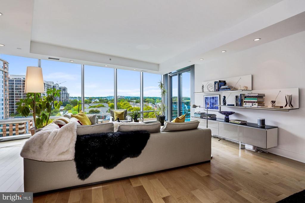 Living Room with Sweet Views - 1881 N NASH ST #1202, ARLINGTON