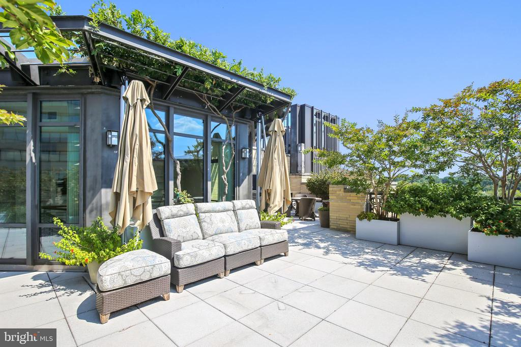 Terrace sitting area - 4301 MILITARY RD NW #PH2, WASHINGTON