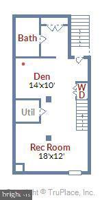 Lower Level Floor Plan - 1718 M ST NE, WASHINGTON