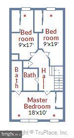 Upper Level Floorplan - 1718 M ST NE, WASHINGTON
