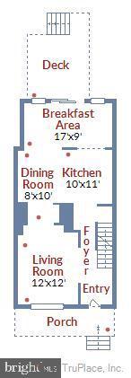 Main Level Floor Plan - 1718 M ST NE, WASHINGTON