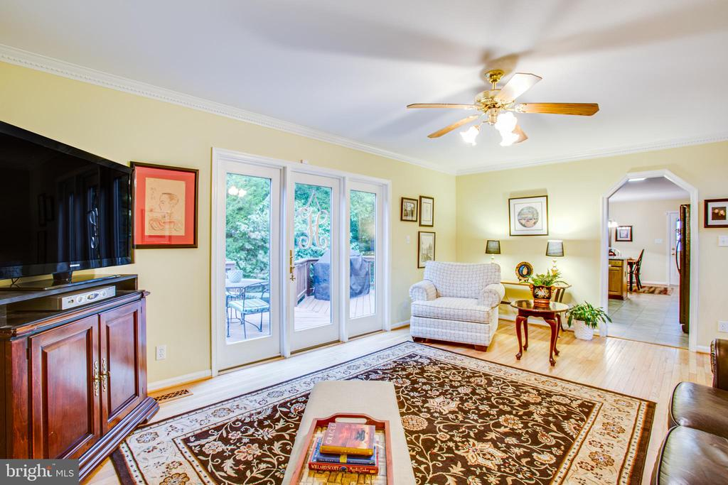 Family Room w/ View of Deck - 9806 RAMSAY DR, FREDERICKSBURG