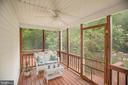 Screened in Porch off of House - 9806 RAMSAY DR, FREDERICKSBURG