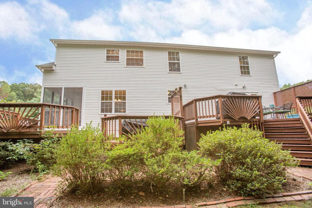 Rear view of Home - 9806 RAMSAY DR, FREDERICKSBURG
