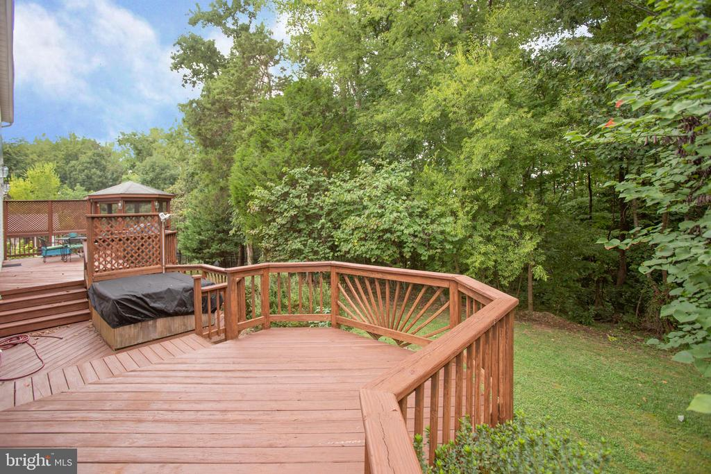 Overlook lush landscaped backyard - 9806 RAMSAY DR, FREDERICKSBURG